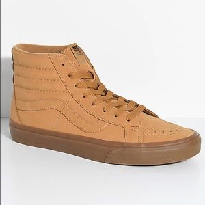 Light Brown| Mens Vansbuck Sk8-Hi Reissue|Size 11